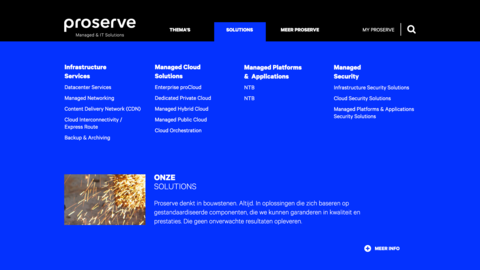 Proserve menu